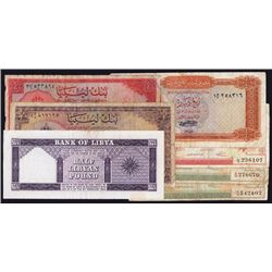 Libya Banknote Group of 7 Notes.