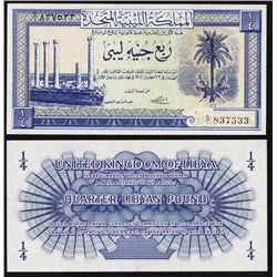 United Kingdom & Kingdom of Libya, 1951-52 Banknote Quartet.