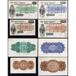 Anglo-Egyptian Banking Company Limited, 1886 Issue, Specimen Set of 4 Notes In Unlisted Paper Colors