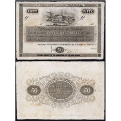 Mauritius Commercial Bank, 1835 Issue Banknote.