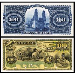 El Banco Mexicano Proof Banknote.