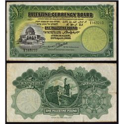 Palestine Currency Board, 1939 Issue Banknote.