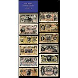 Banco Nacional, 1896 Presentation Book With 12 Banknotes.