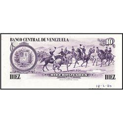 Banco Central De Venezuela, 1980 Issue, Production Progress Proof.