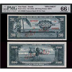 National Bank of Viet Nam High Grade Specimen Banknote.