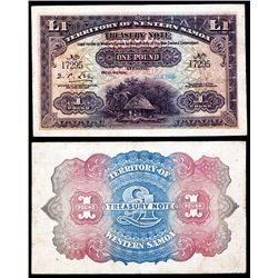 Territory of Western Samoa, 1922 Treasury Note Issue Specimen Banknote.