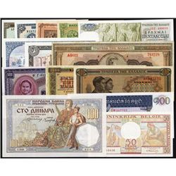Worldwide Banknote Assortment of 14 Banknotes.