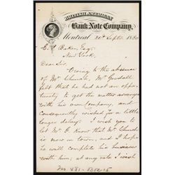 British American Bank Note Co. Letterhead with Letter.