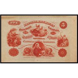 British American Bank Note Company Advertising Sheet.