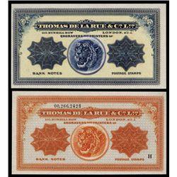 Thomas De La Rue & Co. Advertising Banknote.