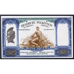 Bradbury, Wilkinson & Co., Ltd, Ad Note.