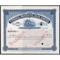 National Provincial Bank Ltd., Waterlow Specimen.