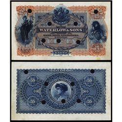 Waterlow & Sons Advertising Banknote.