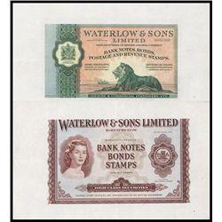 Waterlow & Sons, Ltd, Advertising Banknote.