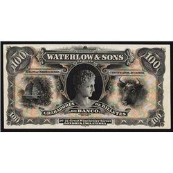 Waterlow & Sons, Ltd, Specimen or Proof Advertising Banknote.