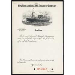 New York and Cuba Mail Steamship Co. Specimen Pass Request form.