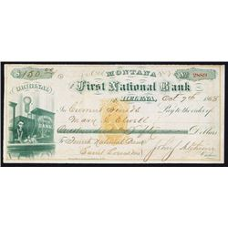 First National Bank of Helena with Cashier on left & RN-B1 Imprinted Revenue.