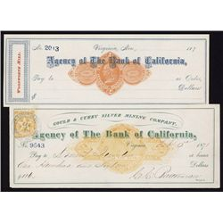 Nevada Imprinted Revenue Check Pair.