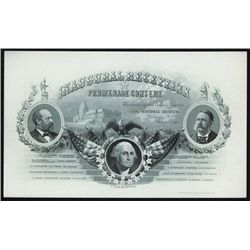James A. Garfield Inauguration Invitation Printed by Homer Lee BNC.