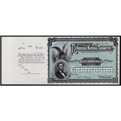 U.S. Republican National Committee Donation Certificate.