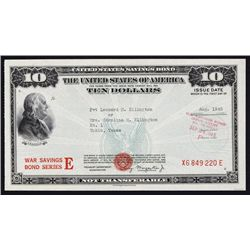 U.S. $10, War savings Bond Series E.