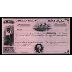 United States Navy 2nd Bill of Exchange 1860's.