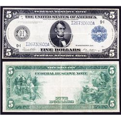 U.S. Federal Reserve Note, $5, Fr#879B, Series 1914.