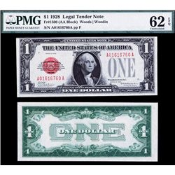 U.S. Note, $1, 1928, Fr.# 1500, (AA Block)