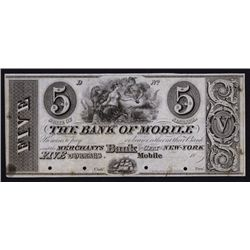 Bank of Mobile, ca.1830's Obsolete Proof.