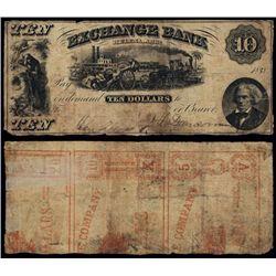 Arkansas, Exchange Bank, Obsolete Banknote.