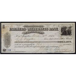 Farmers and Merchants Bank of Los Angeles With G.D. Compton & Downey Autographs.