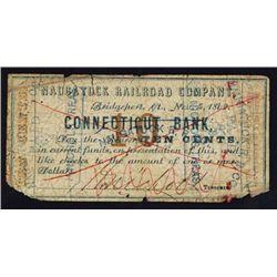 Naugatuck Railroad Company Scrip Note.