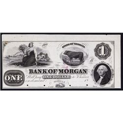 Bank of Morgan, ca.1857 Obsolete Proof.
