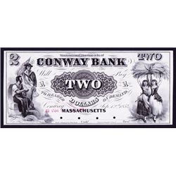 Conway Bank, 1854 Proof Obsolete Banknote.