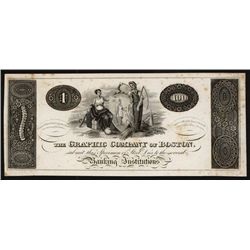 Graphic Company of Boston Advertising Banknote.