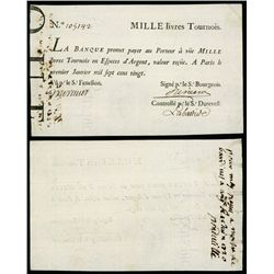 La Banque (Royale), January 1, 1720, John Law Paper Currency Note From Ford Collection.
