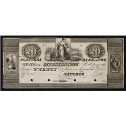 Planters Bank of the State of Mississippi ca.1830's Obsolete Proof.