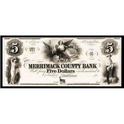 Merrimack County Bank ca.1830's Obsolete Proof.