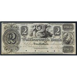Wolfborough Bank, 1839 Issue Obsolete Specimen.