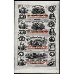 Union County Bank, Plainfield, NJ Obsolete Sheet.