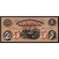 Toppan, Carpenter & Co., Anti-Photographic Advertising Banknote.