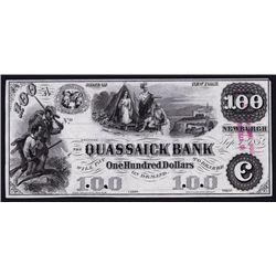 Quassaick Bank, 1850's Proof Obsolete Banknote.