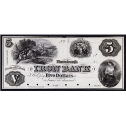 Iron Bank, 1850's Proof Obsolete Banknote.