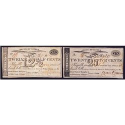 State of New York, Princetown Scrip Notes, Great Western Turnpike Pair.