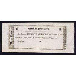 Redford Glass Co. Obsolete Scrip Note.