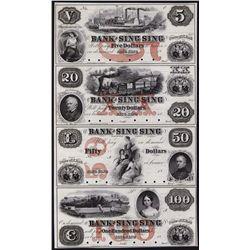 Bank of Sing Sing, Uncut Proof Sheet of 4.