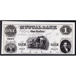 Mutual Bank, 1850's Proof Obsolete Banknote.