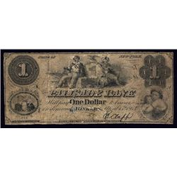 Palisade Bank, Yonkers, NY 1863 $1 Obsolete.