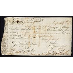 Samuel Ward & Brothers 1793 First of Exchange From New York.