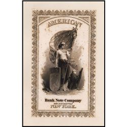 American Bank Note Company Presentation Album Title Page.